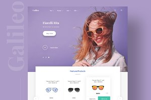Galilio Landing page for sunglasses