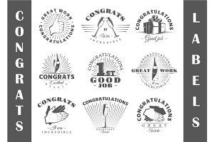 9 Congrats Logos Templates