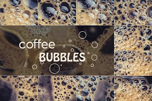 Coffee bubbles photo pack