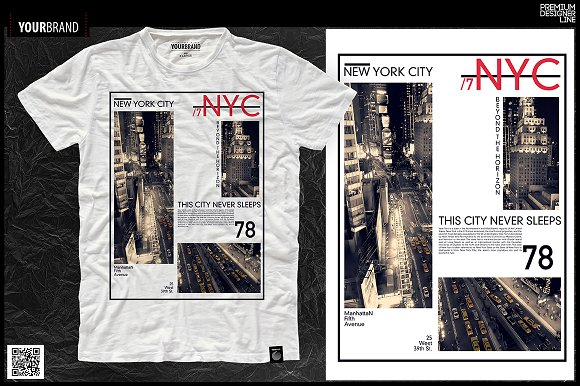 New York City / T-Shirt Pri-Graphicriver中文最全的素材分享平台