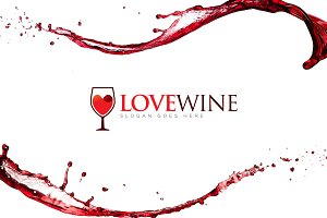 Love Wine - Wine Logo