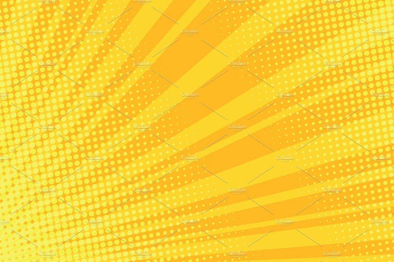 Warm Orange Pop Art Retro Comic Background