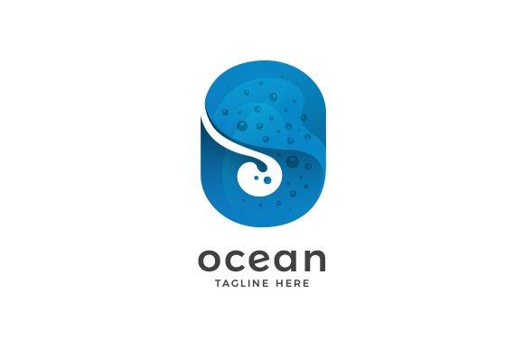 Ocean Letter O Logo