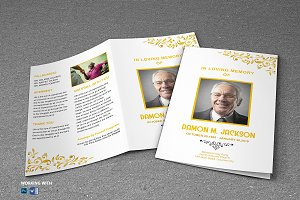 Printable Funeral Program Template