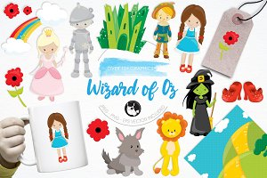 Wizard of oz illustration pack
