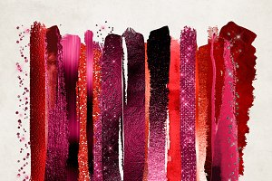 Scarlet Glam Paint Strokes