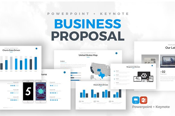 Rocketo Powerpoint Keynote Bundle Presentation Templates - Us map keynote