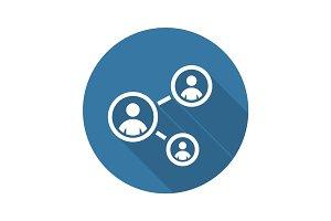 Staff Training Icon. Business Concept. Flat Design.