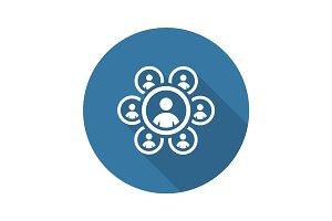 Teamwork Icon. Business Concept. Flat Design.