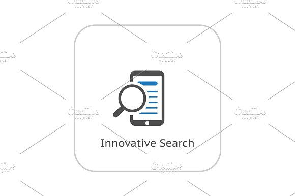 Innovative Search Icon Business Concept Flat Design