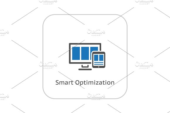 Smart Optimization Icon Business Concept Flat Design