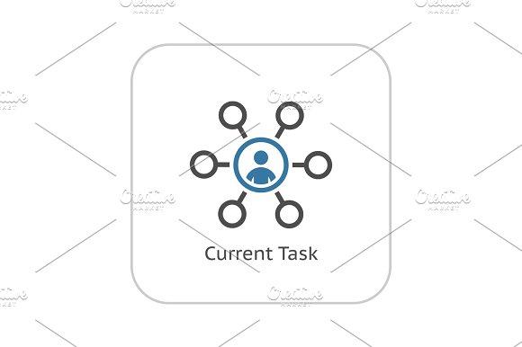 Current Tasks Icon. Business Concept. Flat Design.
