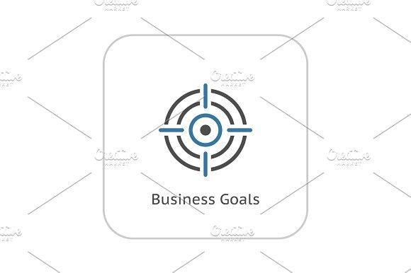 Business Goals Icon. Flat Design.