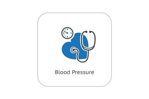 Blood Pressure Icon. Flat Design.
