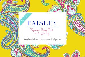 Seamless Paisley Print Patterns