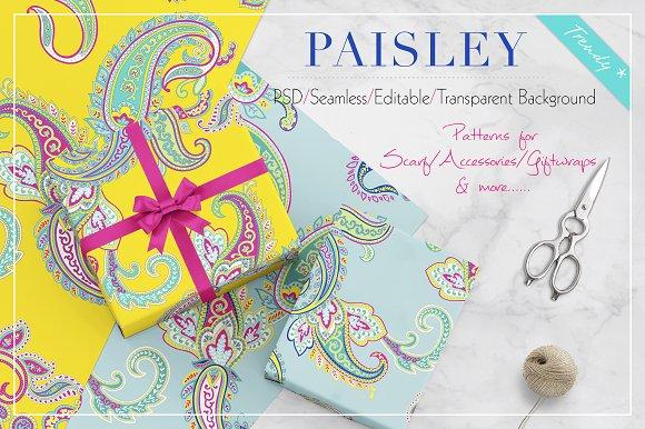 Seamless Paisley Print Patterns