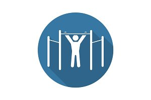 Workout Icon. Flat Design.