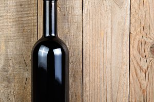 Wine bottle with corkscrew