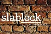 slablock - new style slab font