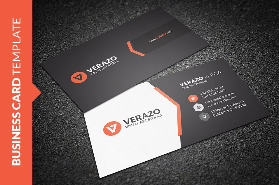 Clean creative business card business card templates creative market flashek