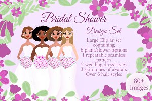 Bridal Shower Avatar Design Set