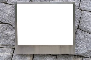 blank of aluminum photo frame
