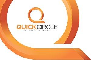 Quick Circle - Letter Q Logo