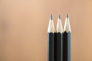 Pencil in row, Success concpet.