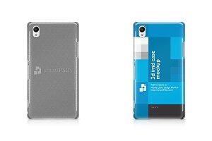 Sony Xperia Z1 3d IMD Case Mockup