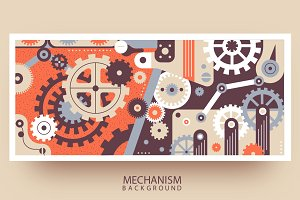 Mechanism flat background