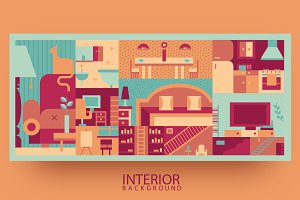 Interior flat background