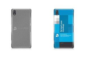 Xperia Z2 3d IMD Phone Case Mockup