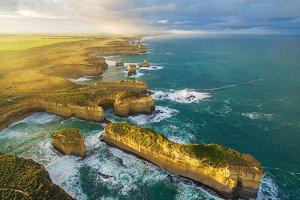 12 Apostles Aerial Landscape
