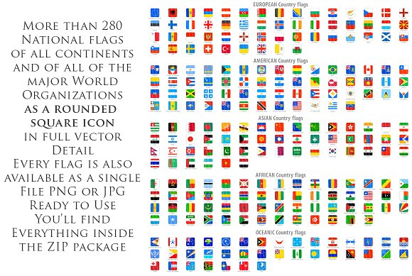 280 world flags squared icons icons creative market