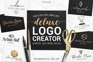 Deluxe geometric gold logo creator