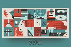 Science flat background