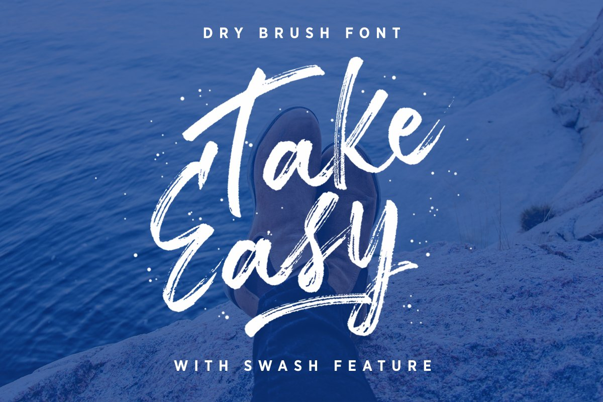 TakeEasy Brush Font ~ Script Fonts ~ Creative Market