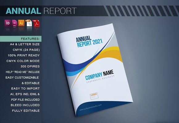 Annual Report Brochure Templates on Creative Market – Annual Report Brochure