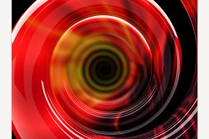 Abstract swirly red shape