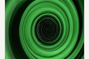 Abstract swirly green shape
