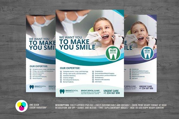 Dental Care And Services Flyer Creative Photoshop Templates Creative Market