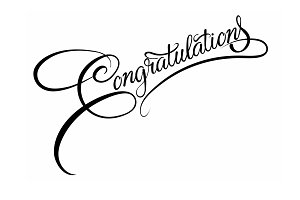 Congratulations calligraphy. Vector