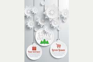 Paper snowflakes set