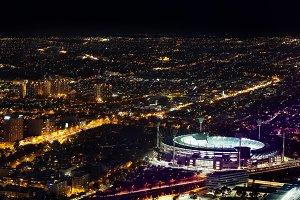 Melbourne Cricket Ground aerial view