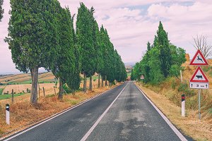 Road in the hills of Tuscany