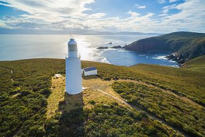 Bruny island Lighthouse at sunset