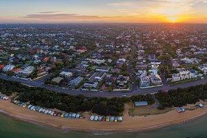 Brighton Beach aerial panorama