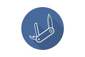 Penknife icon. Vector