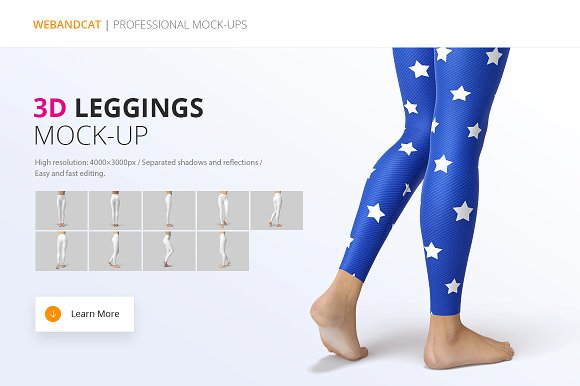 3f9f679c38b Leggings Mock-Up ~ Product Mockups ~ Creative Market