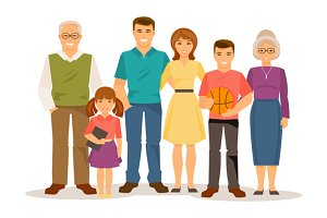 Family. Vector illustration